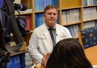 Physician discusses stereotactic combination therapy with WFAA/Ch 8